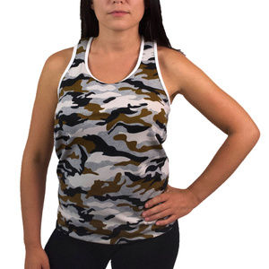 Womens Activewear Tank Top Camouflage